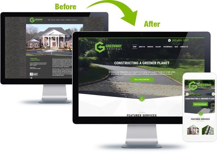 mobile desktop website transformation