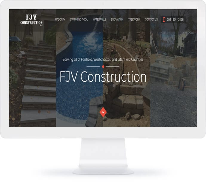 FJV Construction Web Design
